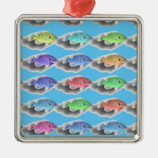 Ornamento De Metal Natação Fishies