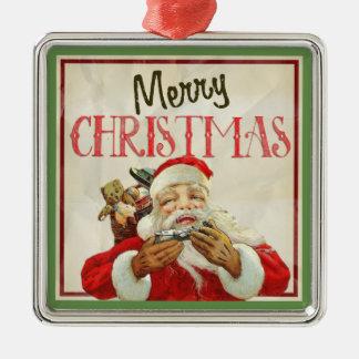 Ornamento De Metal Natal clássico de Papai Noel do vintage