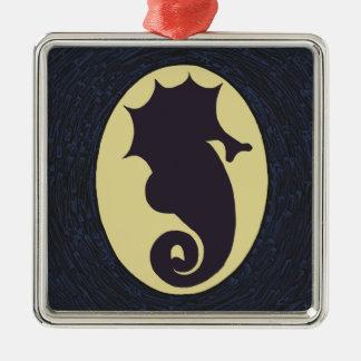 Ornamento De Metal Natal do cavalo marinho