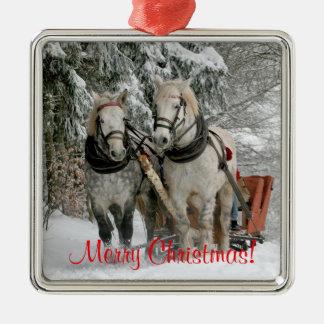 Ornamento De Metal Natal dos cavalos de esboço