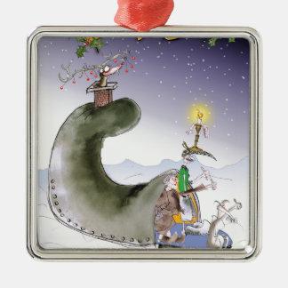 Ornamento De Metal Natal feliz de yorkshire do amor