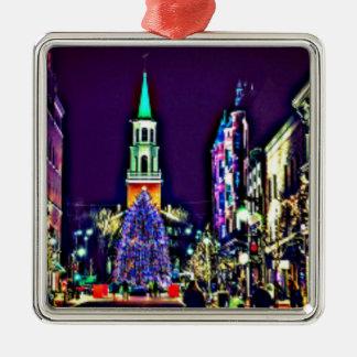 Ornamento De Metal Natal na cidade