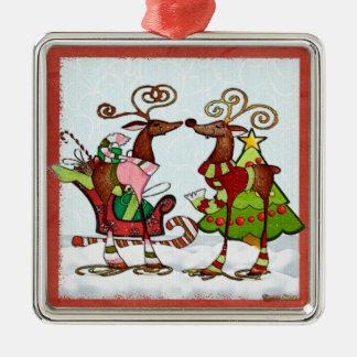 Ornamento De Metal Natal parvo Mooks da rareza
