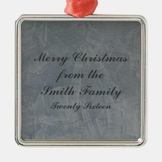 Ornamento De Metal Natal Venetian do emplastro do cinza de ardósia