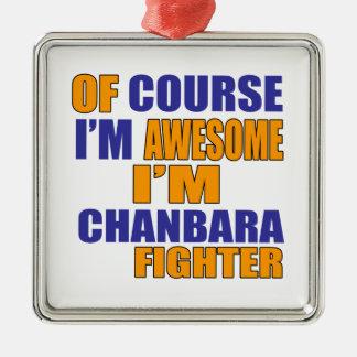 Ornamento De Metal Naturalmente eu sou lutador de Chanbara