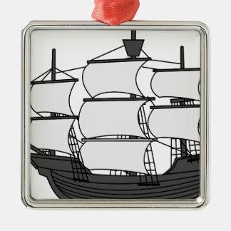 Ornamento De Metal Navio da vela