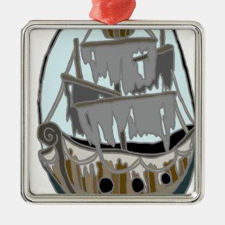 Ornamento De Metal Navio do fantasma