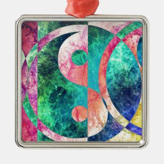 Ornamento De Metal Nebulosa abstrata de Yin Yang