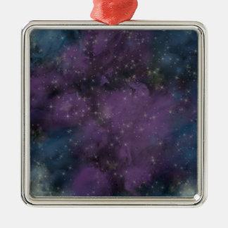 Ornamento De Metal Nebulosa roxa da galáxia