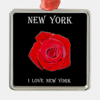 Ornamento De Metal New York eu amo New York (aumentou)
