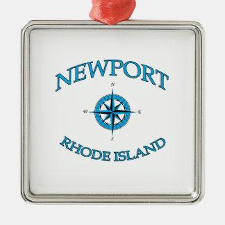 Ornamento De Metal Newport Rhode - ilha náutica