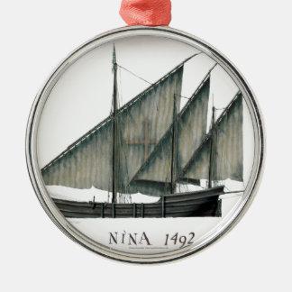 Ornamento De Metal Nina 1492 por Tony Fernandes