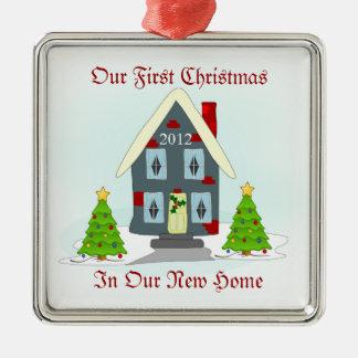 Ornamento De Metal Nosso primeiro Natal no feriado Home novo
