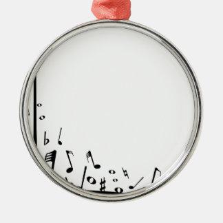 Ornamento De Metal Notas musicais de derramamento
