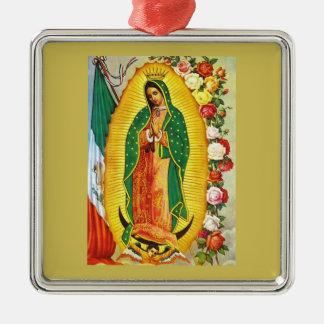 Ornamento De Metal Nuestra Señora de Guadalupe