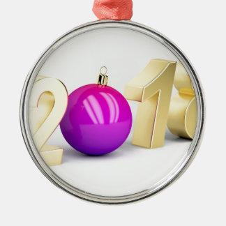 Ornamento De Metal Número 2018 com bola do Natal