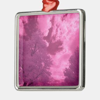 Ornamento De Metal Nuvem Pinkish do infravermelho das matiz