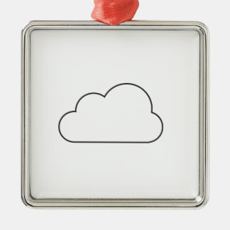 Ornamento De Metal Nuvem simples