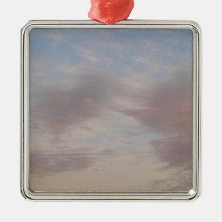Ornamento De Metal Nuvens coloridas