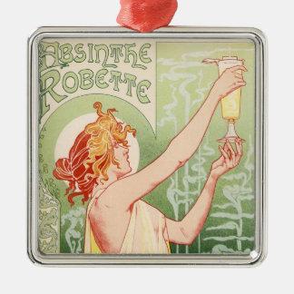 Ornamento De Metal O absinto Robette - poster vintage do álcool