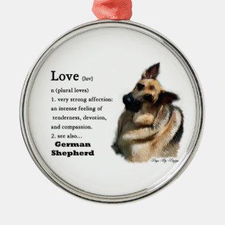 Ornamento De Metal O amor do german shepherd é