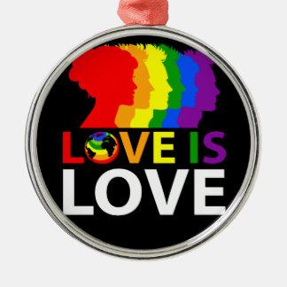 Ornamento De Metal O amor é amor