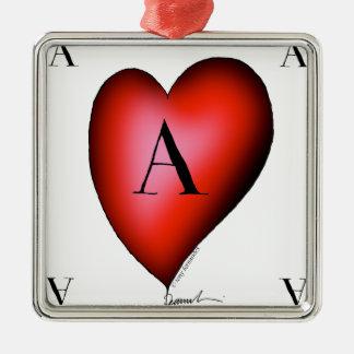Ornamento De Metal O ás de corações por Tony Fernandes