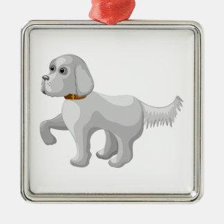 Ornamento De Metal O cão dá a pata