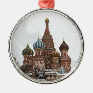 Ornamento De Metal O cathedral_eng da manjericão do santo