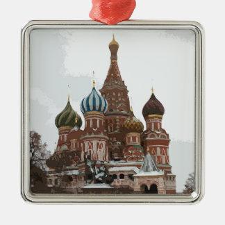 Ornamento De Metal O cathedral_russo da manjericão do santo