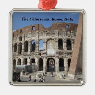 Ornamento De Metal O Colosseum em Roma, Italia