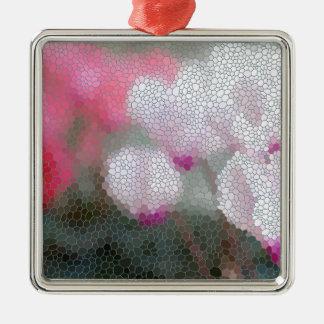 Ornamento De Metal O Cyclamen floresce o mosaico
