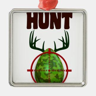 Ornamento De Metal o design engraçado da páscoa, nascer para caçar