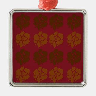 Ornamento De Metal O design floresce o marrom do ethno