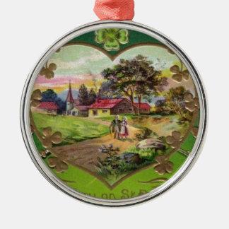 Ornamento De Metal O dia retro de St Patrick do irlandês do vintage
