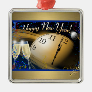 Ornamento De Metal O feliz ano novo