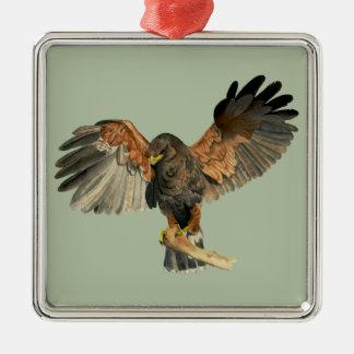 Ornamento De Metal O Flapping do falcão voa a pintura da aguarela