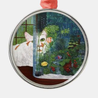 Ornamento De Metal O gato aquático