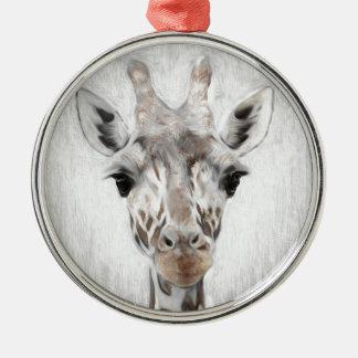 Ornamento De Metal O girafa majestoso retratou multiproduct