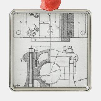 Ornamento De Metal O gráfico do mecânico industrial do vintage
