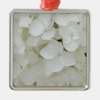Ornamento De Metal O Hydrangea floresce a flor elegante branca floral