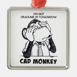 Ornamento De Metal O macaco do CAD não vê nenhuma decoração quadrada