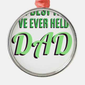 Ornamento De Metal O melhor título que eu guardarei nunca é pai