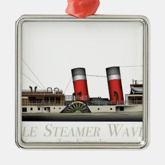 Ornamento De Metal O navio a vapor de pá Waverley por Tony Fernandes