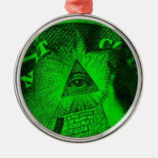 Ornamento De Metal O olho de Illuminati