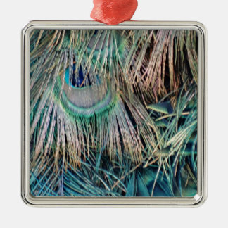 Ornamento De Metal O pavão empluma-se o verde e o azul de Tan