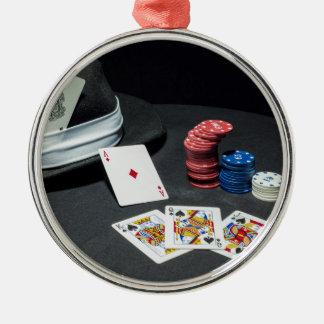 Ornamento De Metal O póquer carda o chapéu do gângster