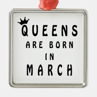 Ornamento De Metal O Queens é nascido em março