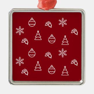 Ornamento De Metal O teste padrão do Natal mim