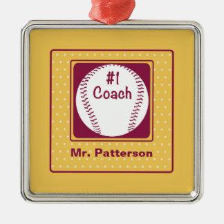 Ornamento De Metal Obrigados treinador, obrigados número 1